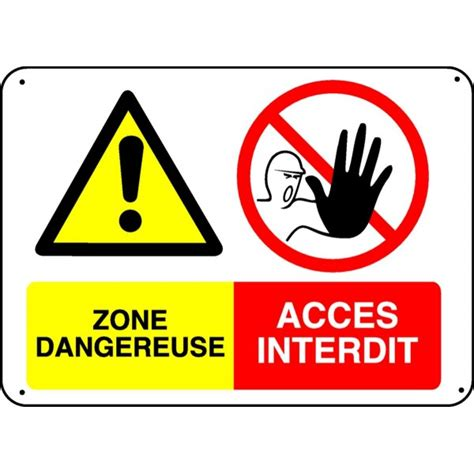 le de bureau jaune panneau zone dangereuse accès interdit stocksignes