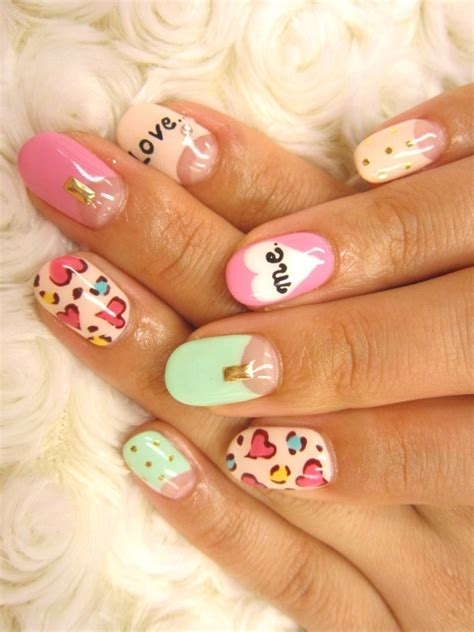 pretty nail designs multi color nail ideas for summer