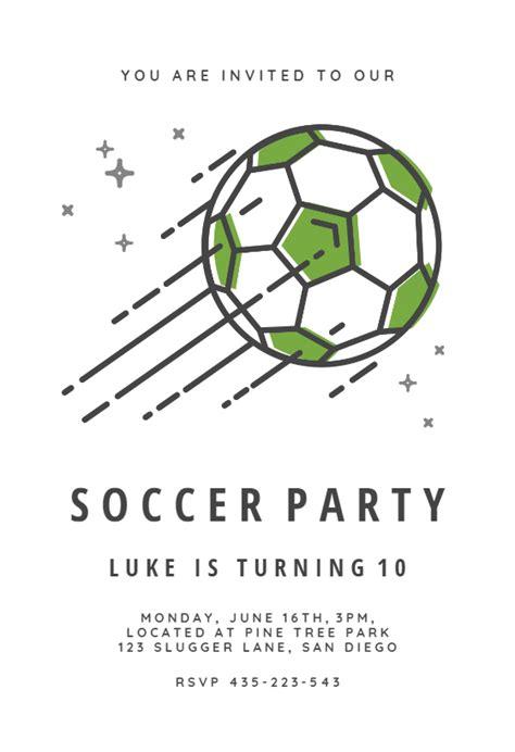 soccer stars sports games invitation template