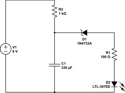 Create Blinking Led Circuit With Diode