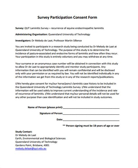 15278 survey consent form template sle survey consent form 6 documents in pdf word