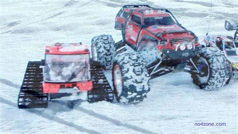 traxxas summit team  action   snow rc