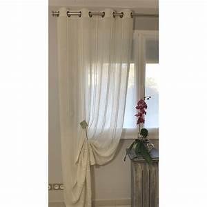 Rideaux Prêts à Poser : voilage pr t poser terra naturel 135 x 290 cm l 39 atelier de la toile ~ Teatrodelosmanantiales.com Idées de Décoration