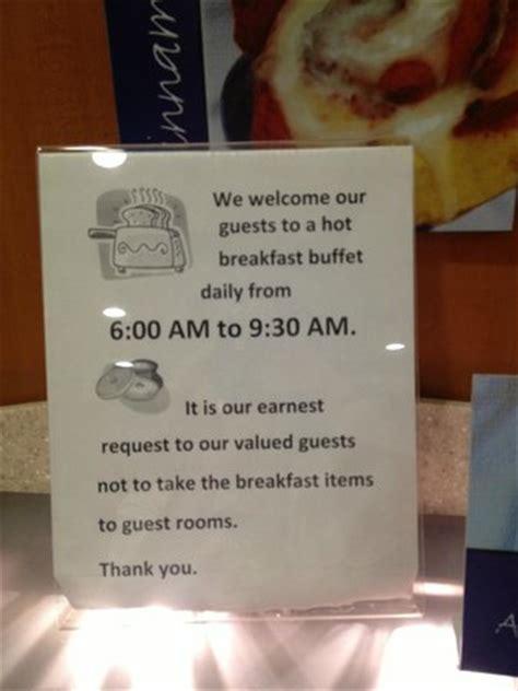 sign     consideration  full breakfast