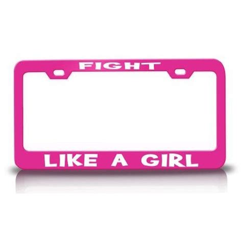 And Dunn License Plate by Fight Like A Pink Metal License Plate Frame