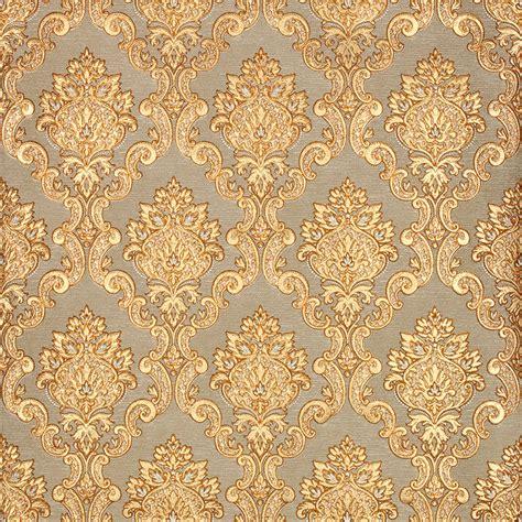 3d Gold Luxury Wallpaper 3d Damascus Mural Wall Paper Roll