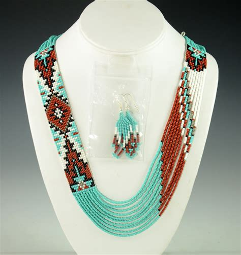 beaded navajo necklace rena charles