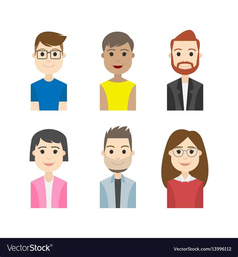 simple people avatar business character royalty  vector