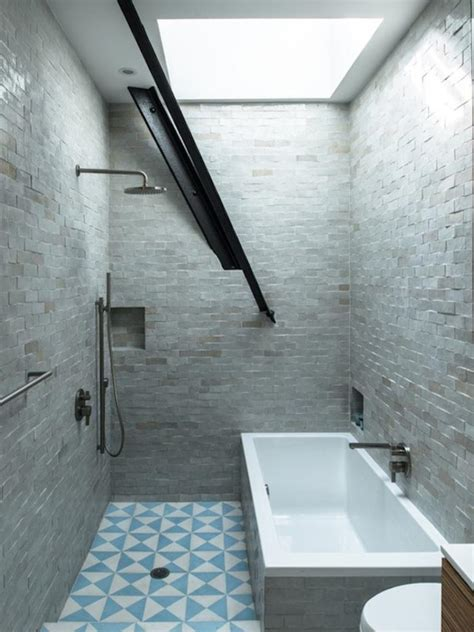 industrial tile 30 awesomely airy bathroom designs with skylight rilane