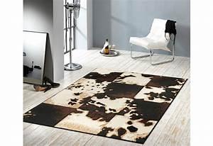 Design Teppich Hanse Home Kuhfell Teppich Mosaik
