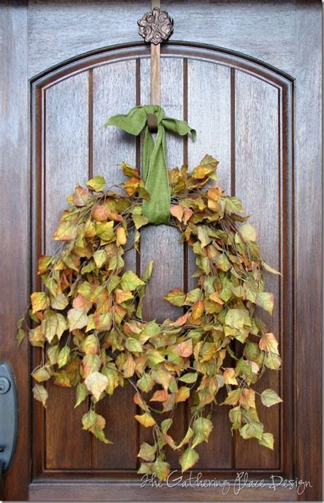 simple fall wreath autumn wreath easy fall pinterest