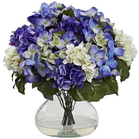 Flower Arrangements In A Vase by 14 5 Quot Artificial Silk Hydrangea Flower Arrangement