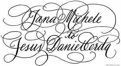 Calligraphy Fonts Alphabet Tattoo Font Script Cursive