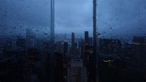 wallpaper  night city window rain