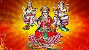Lakshmi Ganesha and Saraswati images