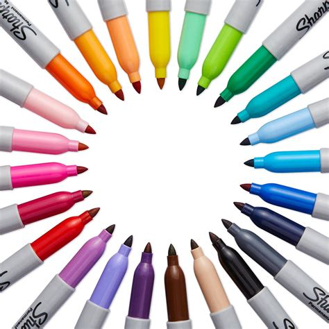 Coloring With Spidol by Sharpie Point Permanent Marker 24 Pack Lix Supplies