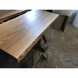 Tischplatte Eiche Geölt : tischplatte waschtisch eiche beidseitig baumkante rustikal geschliffen ge lt 120x55 60x4 5 ~ Frokenaadalensverden.com Haus und Dekorationen