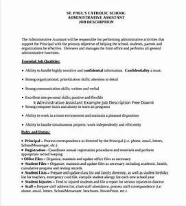 12 administrative assistant job description templates for Executive administrative assistant job description template