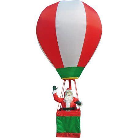 tall airblown inflatable realistic santa  hot air