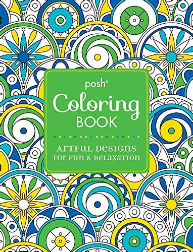 posh adult coloring book artful designs  fun