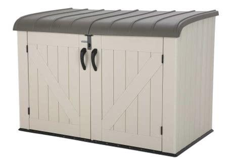 garbage bin storage shed lifetime outdoor garbage bin 60170 horizontal storage shed