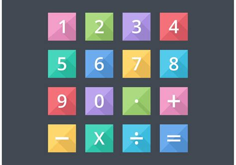 numbers  mathematical flat vector icons