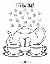 Tea Coloring Getdrawings Tags sketch template
