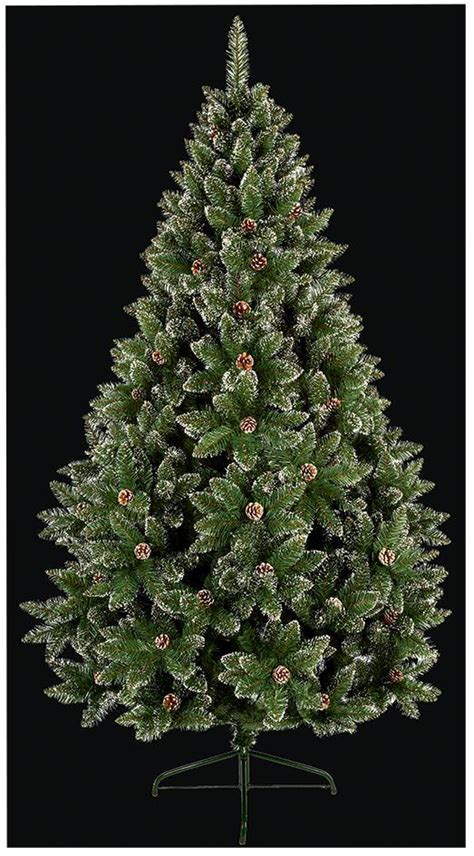 1 8m pvc rocky mountain christmas tree with cones snow