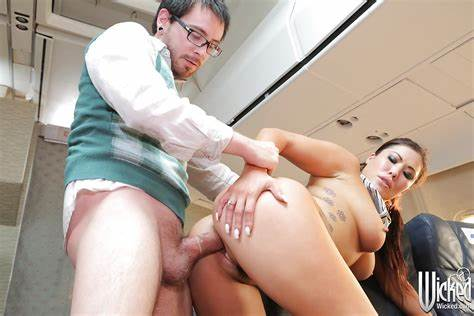 Destroyed The Air Hostess Stunningly Cum