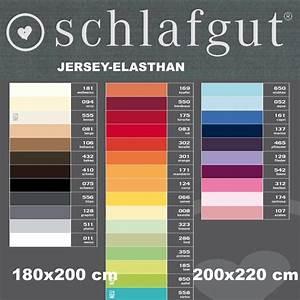 Spannbettlaken 200 X 210 : schlafgut spannbettlaken jersey elasthan 180 x 200 200 x 220 cm 1281 ~ Markanthonyermac.com Haus und Dekorationen