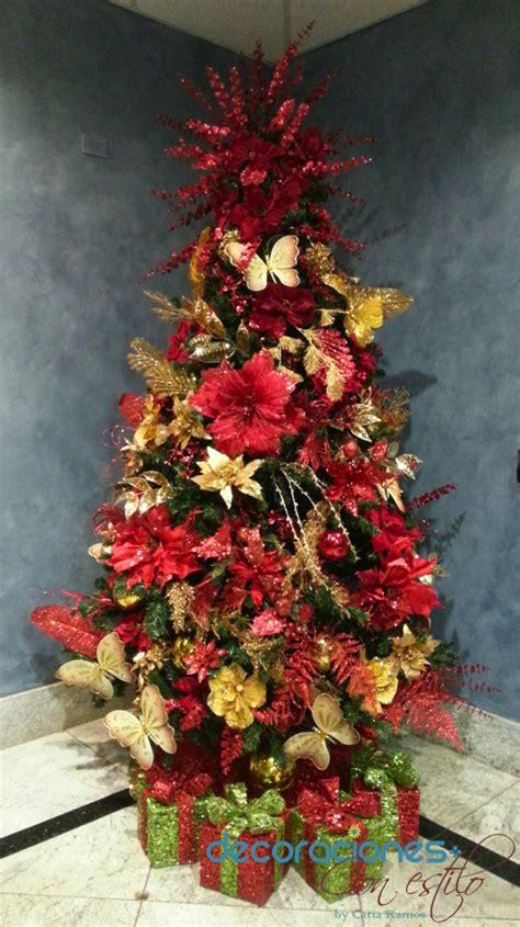 Permalink to Arbol De Navidad Decorado Rojo Y Dorado