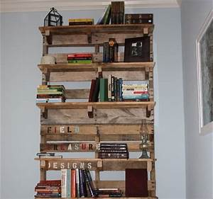 Diy pallet bookshelf plans or instructions wooden for Homemade furniture instructions