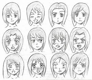 Anime facial expressions by tulvit on DeviantArt