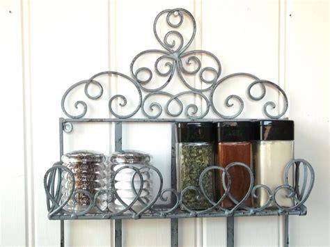 Metal Spice Rack Wall Mount by Vintage Style Metal Wall Shelf Unit Storage Unit Kitchen