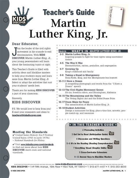 martin luther king jr kids discover