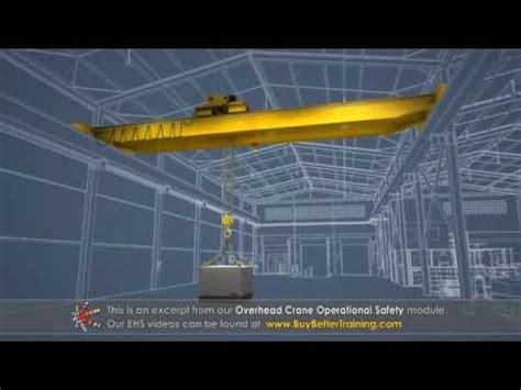 overhead crane operational safety training youtube