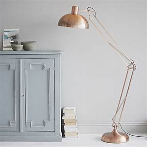 Copper floor lamp for Rose gold floor lamp uk