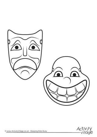 Ancient Mask Template Ancient Mask Template Printable Drama Mask Drawing
