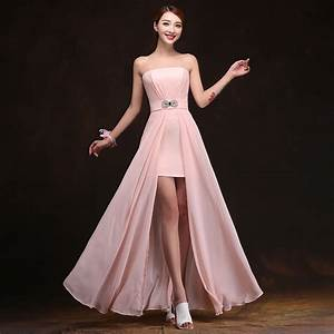 2016 cheap chiffon long plus size blush pink bridesmaid With plus size wedding party dresses