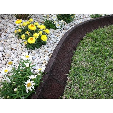 ecoborder  ft brown rubber curb landscape edging  pack