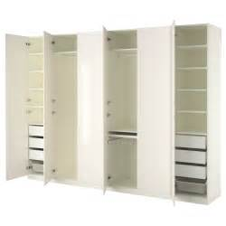 Armoires Chambres Ikea by Pax Wardrobe White Fardal High Gloss White 300x60x236 Cm