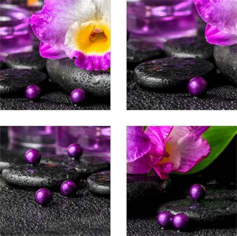 Badezimmer Deko Pink by Fliesen Aufkleber Fliesen Bild Orchideen Steine Schwarz