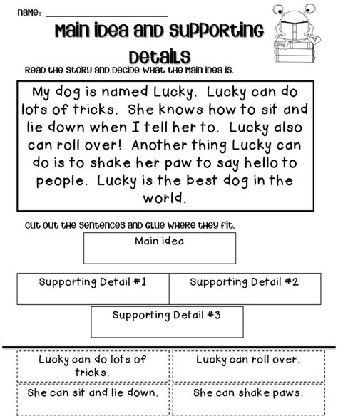 main idea and supporting details mania ccss aligned