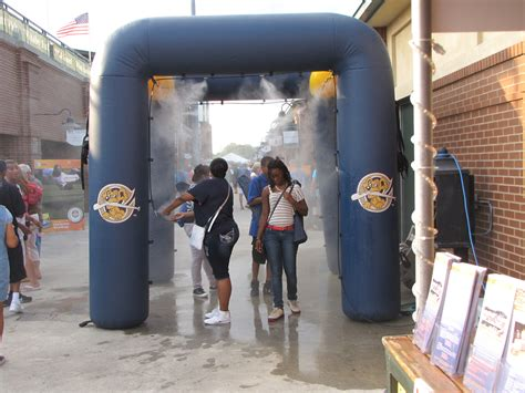 inflatable misting stations