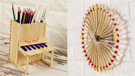 diy popsicle stick craft compilation craft ideas