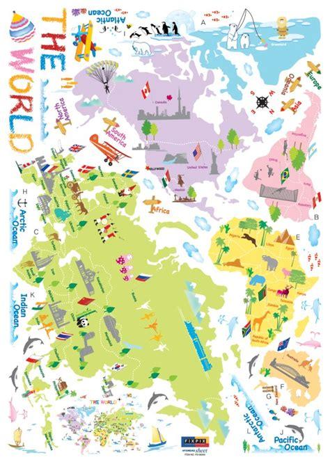 carte du monde enfant sticker carte du monde stickers enfants ambiance sticker