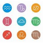 Zodiac Icons Symbol Icon Astrology Vector Psd