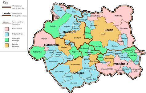 map  west yorkshire county uk  printable maps