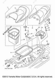 Yamaha Waverunner 2002 Oem Parts Diagram For Seat  U0026 Under Locker