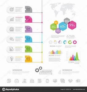 Business Infographic Elements Modern Infochart Marketing